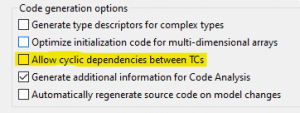 The model compiler can now build TCs with cyclic library dependencies.